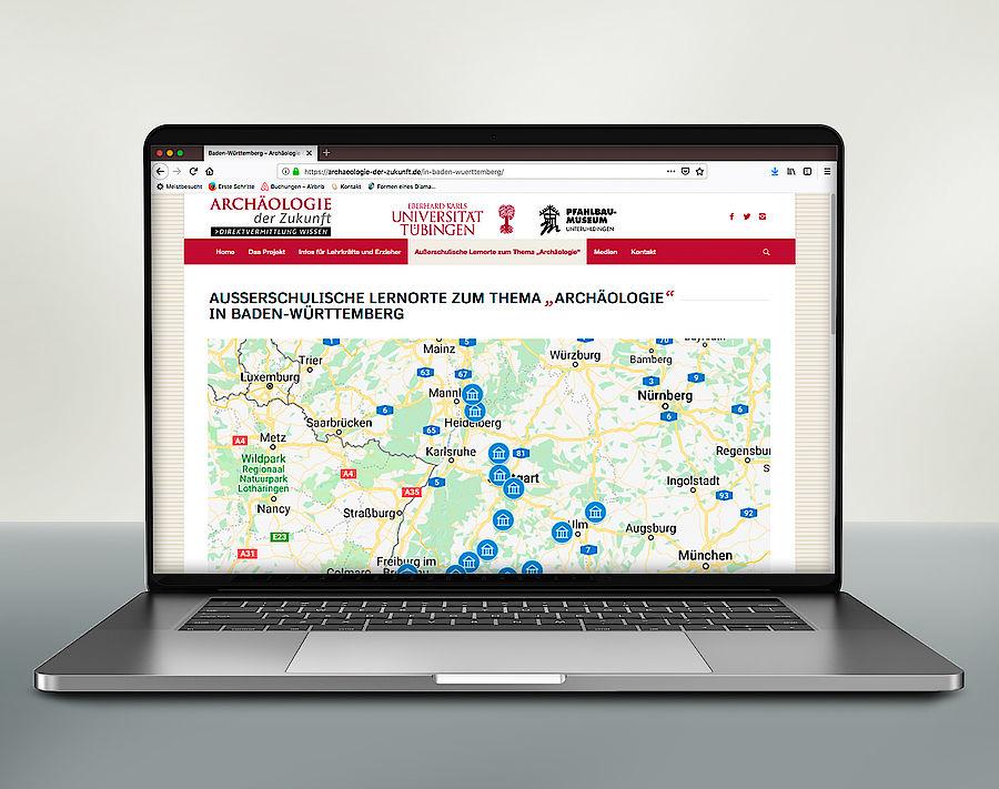 Website archaeologie-der-zukunft.de